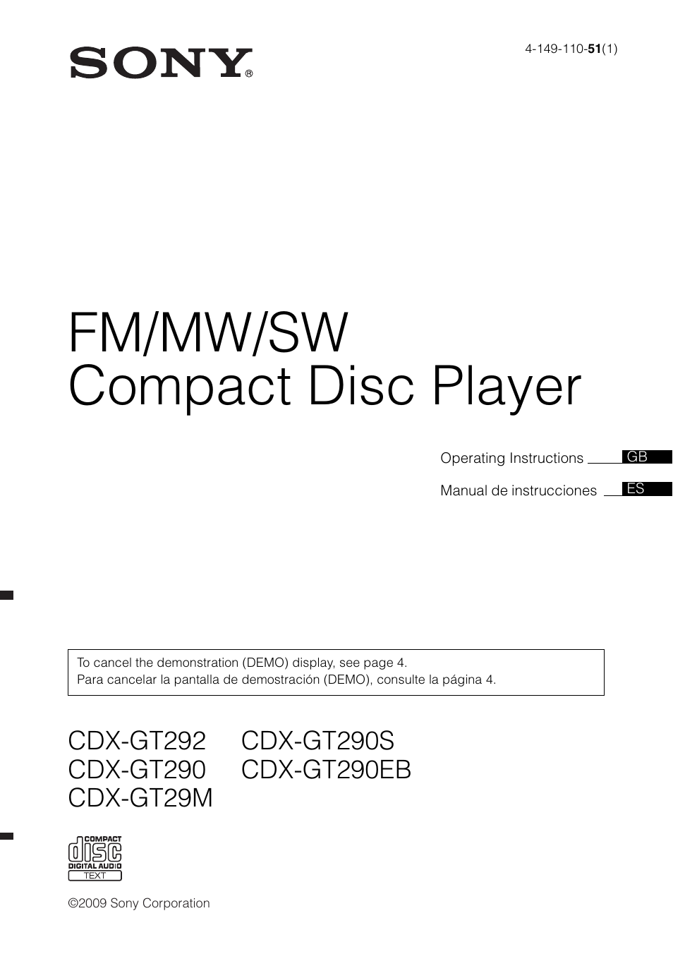 Wiring Diagram Sony Cdx Gt290