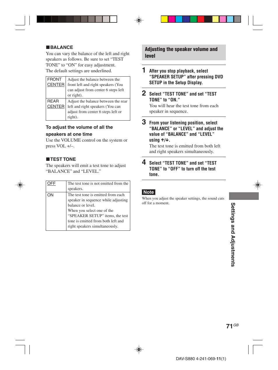 Sony DAV-S880 User Manual | Page 71 / 84