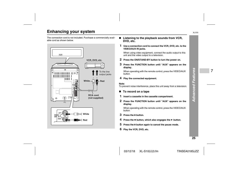 enhancing your system sharp xl s10 user manual page 25 31 rh manualsdir com sharp roku user manual sharp user manual mx-m654