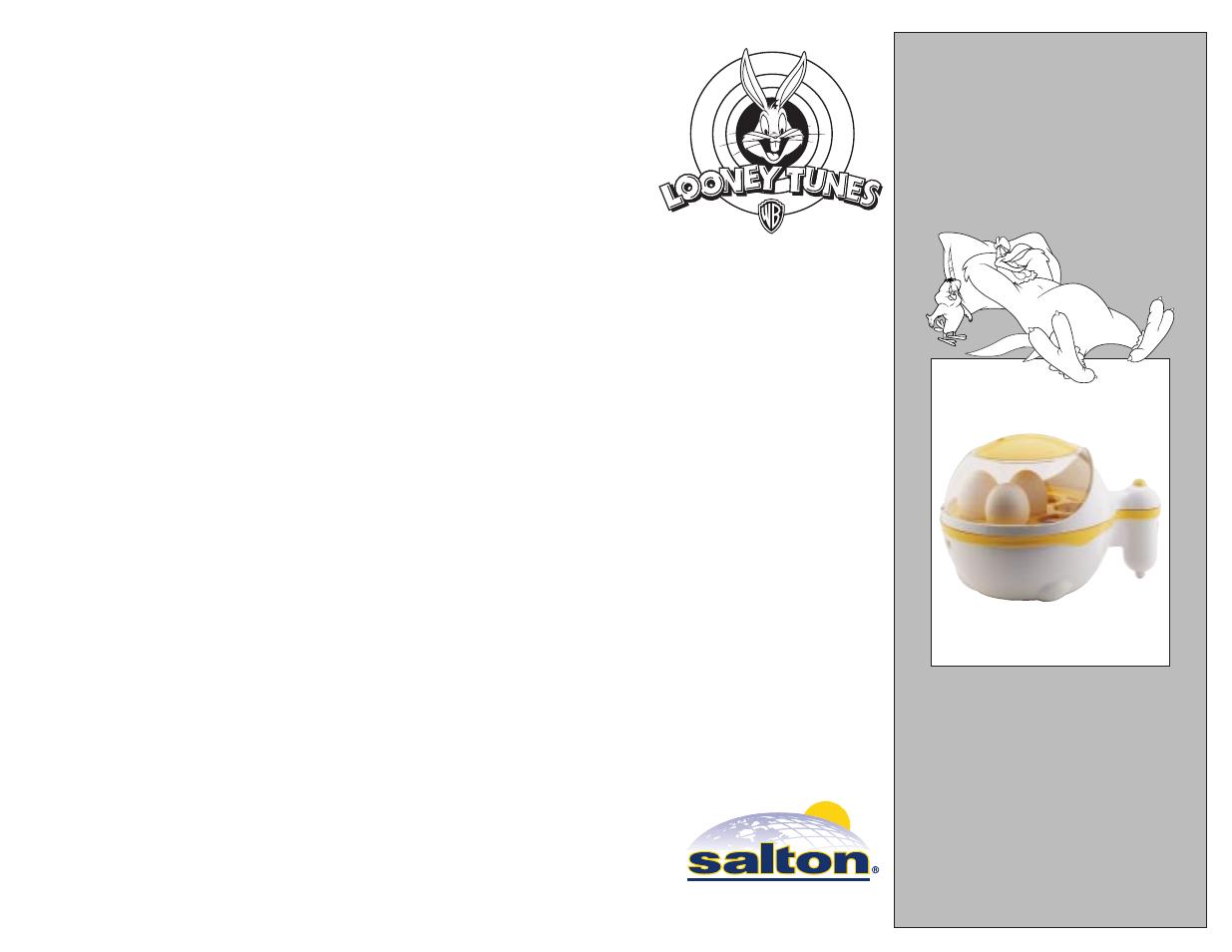 Salton wm20lt sylvester shaped waffle maker manual questions.