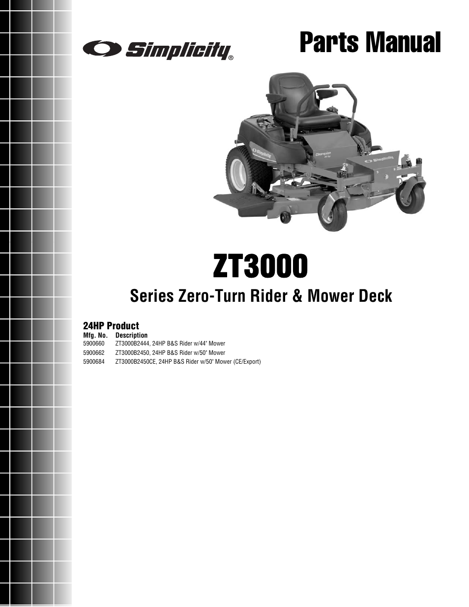 Simplicity ZT3000 User Manual | 54 pages