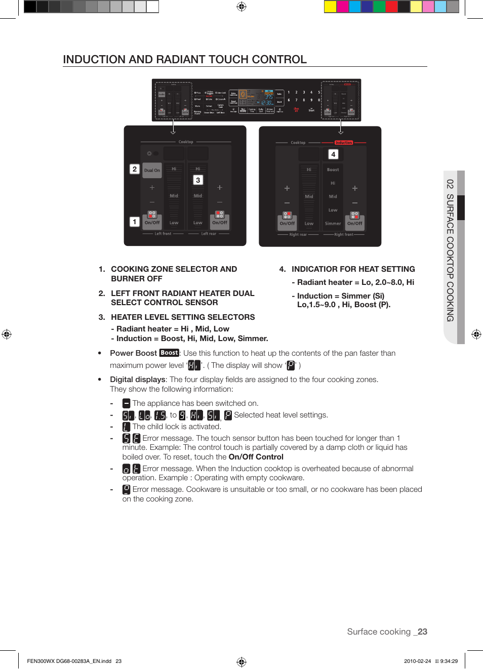induction and radiant touch control samsung fe n300 user manual rh manualsdir com Samsung Owner's Manual Samsung Owner's Manual