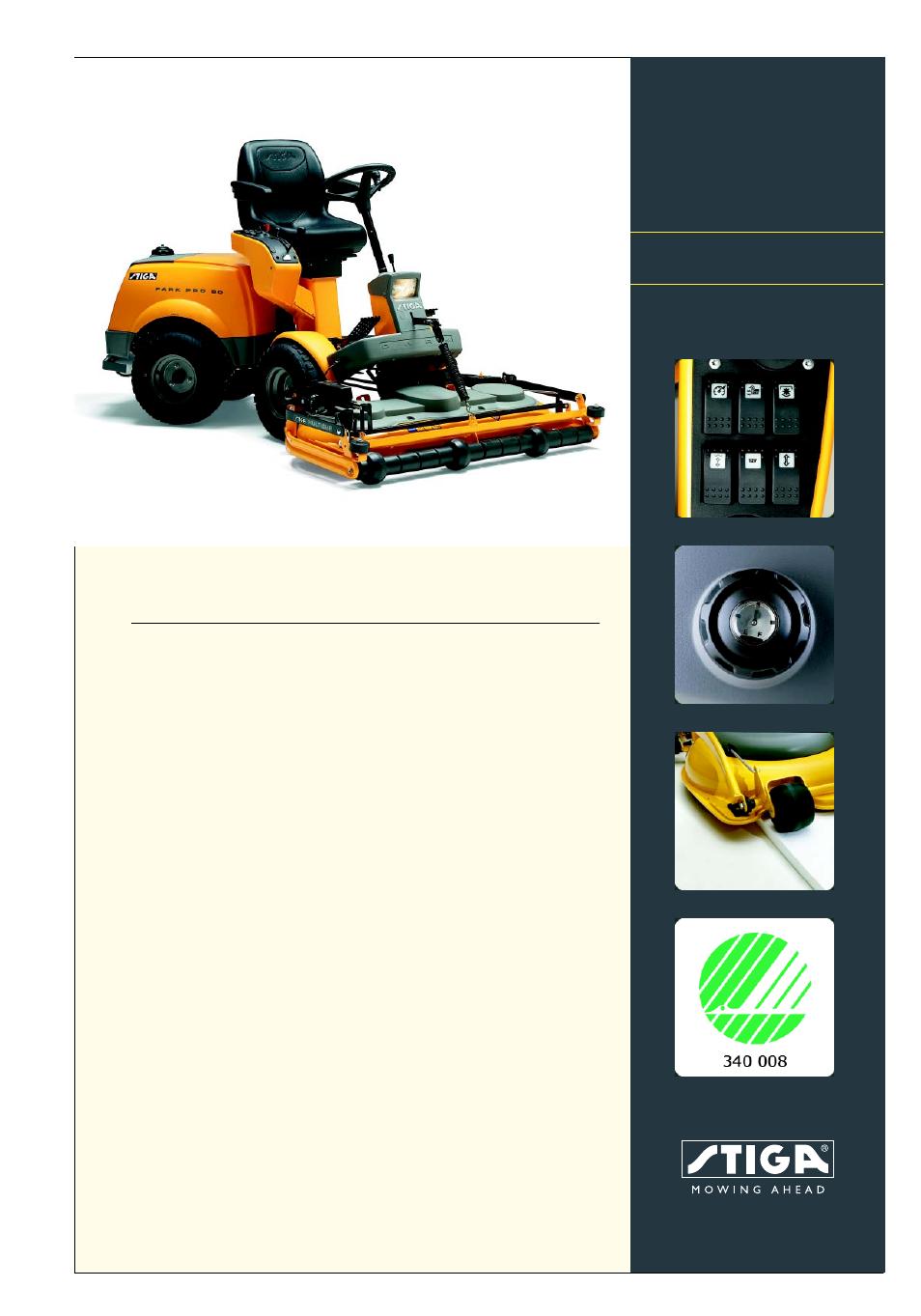 stiga park pro 20 cat user manual 2 pages rh manualsdir com Craftsman Lawn Mower Manual Manual Push Lawn Mowers