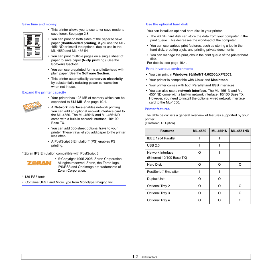 Samsung ML-4551ND User Manual   Page 12 / 112   Also for: ML