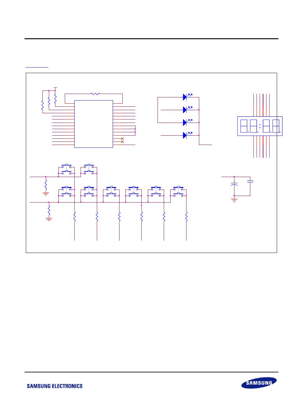 3 key and display circuit, Figure 2-9 key and display circuit | Samsung  S3F84B8 User Manual | Page 20 / 25