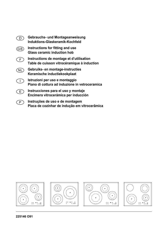 Table Induction Ou Vitrocéramique smeg glass ceramic induction hob se2642id2 user manual | 17
