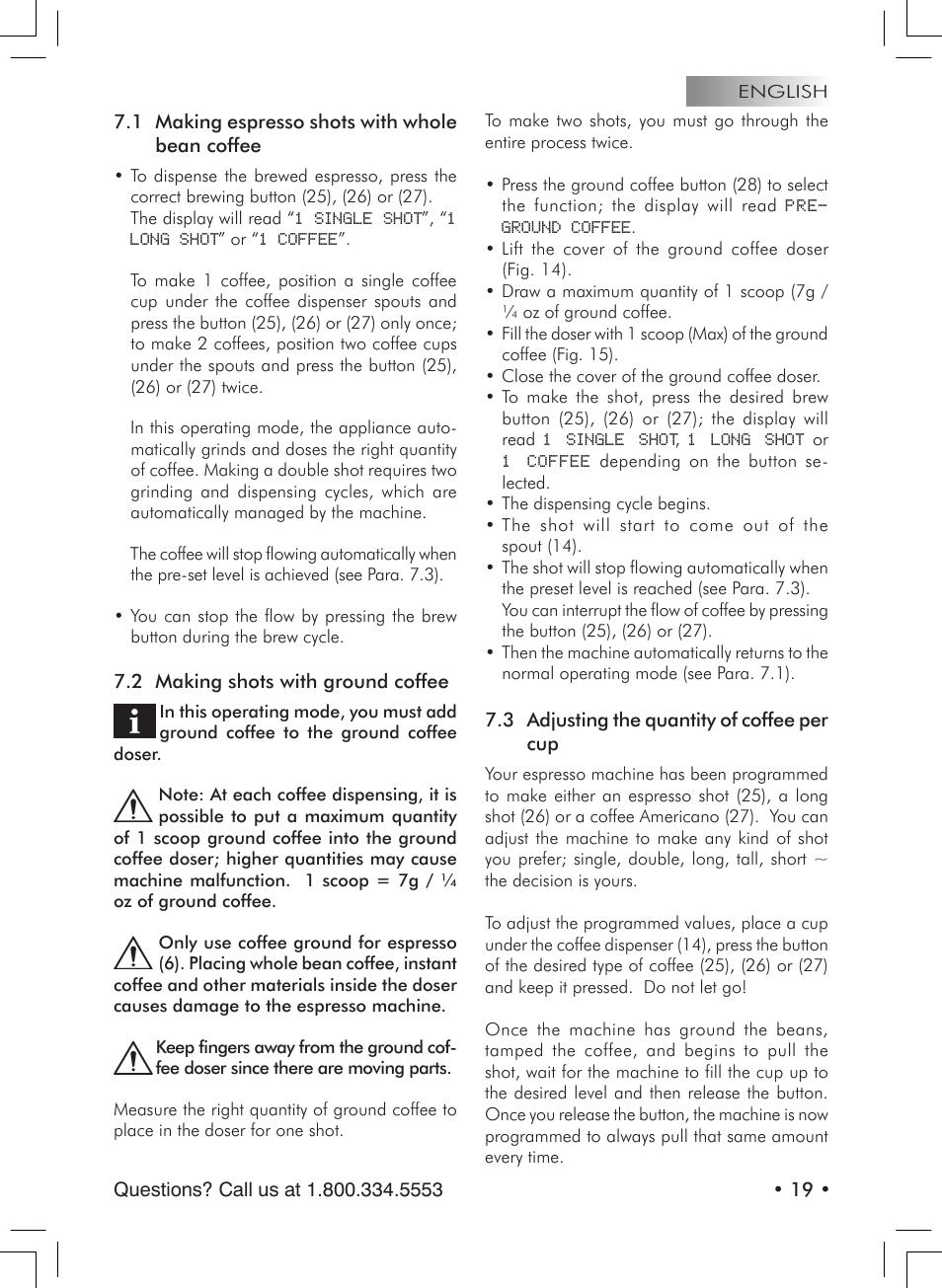 Starbucks Barista SUP021 YDR User Manual   Page 19 / 64