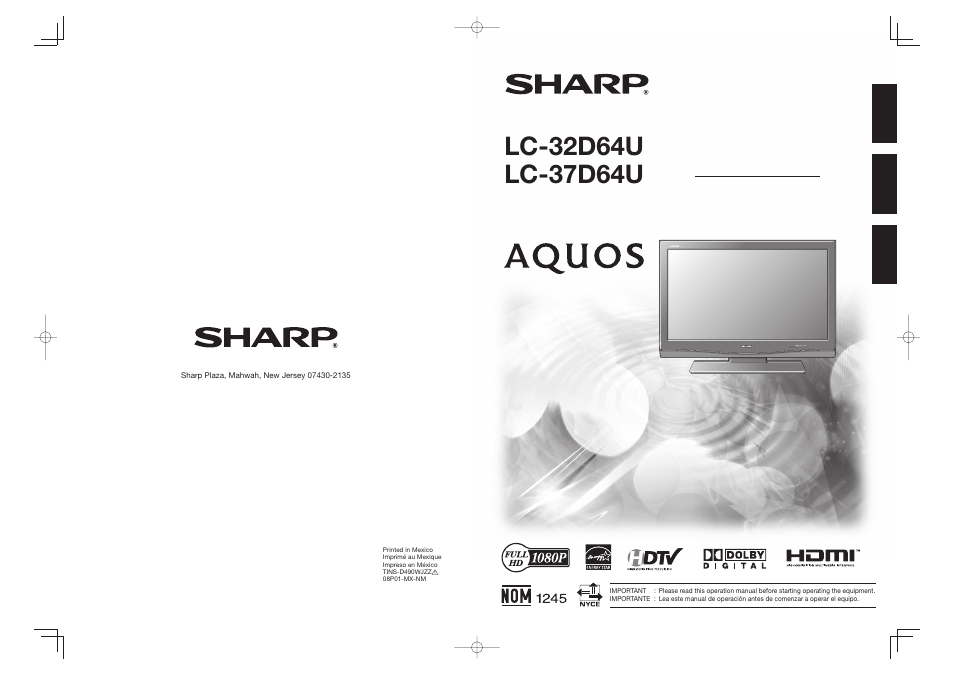 sharp lc32d64u manual daily instruction manual guides u2022 rh testingwordpress co Sharp ER-A170 sharp lc-32d64u manual