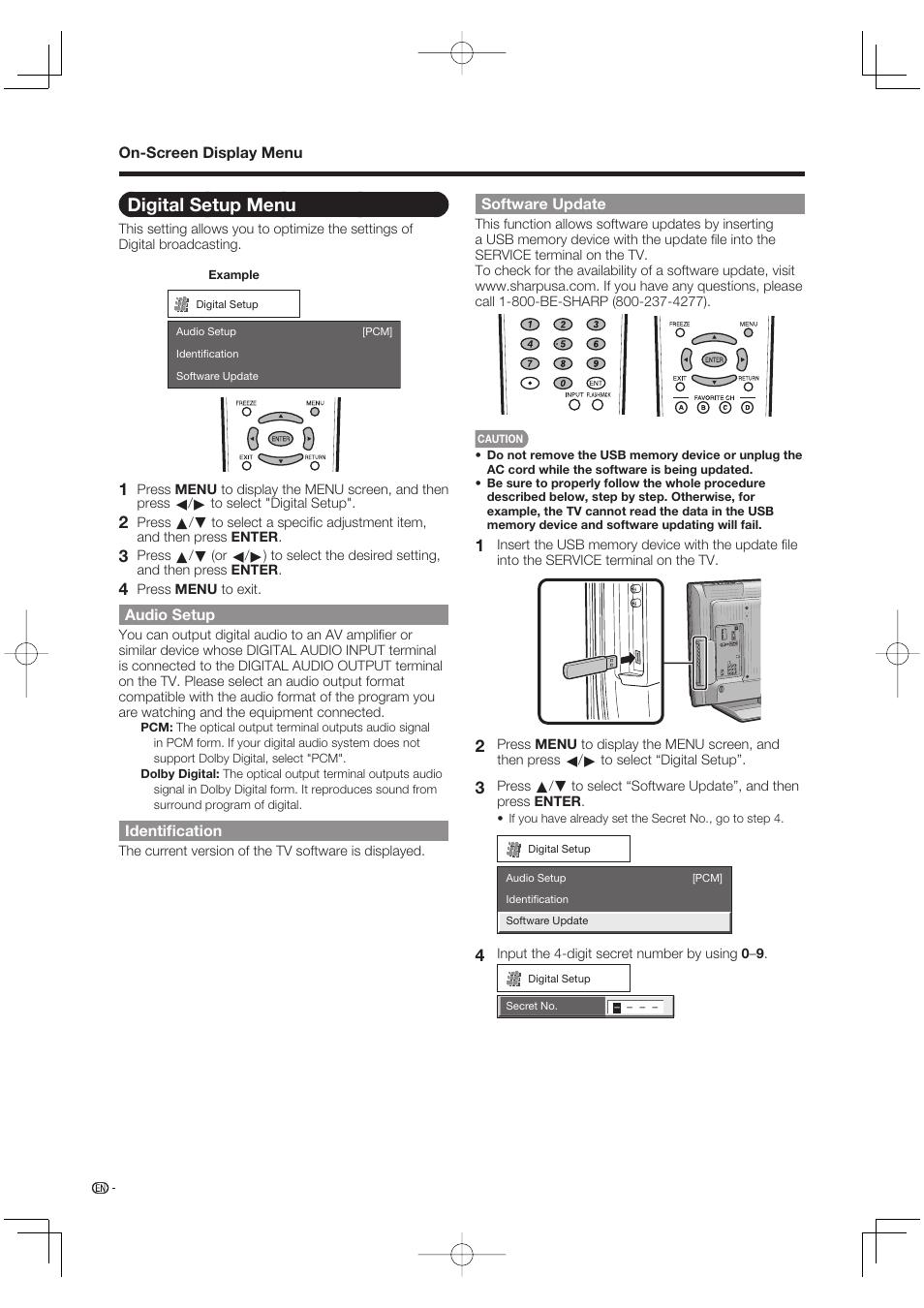 digital setup menu audio setup identification sharp aquos lc rh manualsdir com User Manual Sharp Fax Machines Sharp ManualsOnline