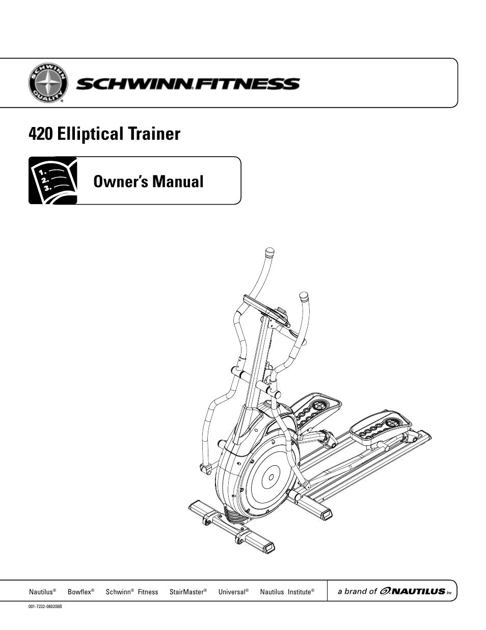 Schwinn 420 User Manual Manual Guide