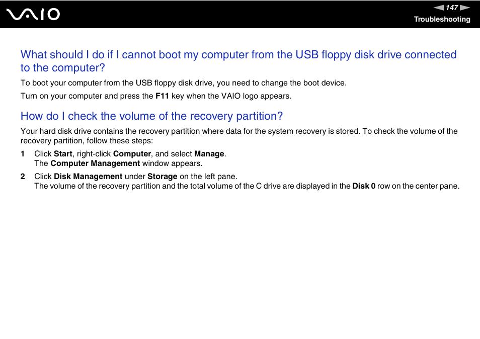 sony vaio v g c lt 2 0 user manual page 147 197 original rh manualsdir com Operators Manual User Manual