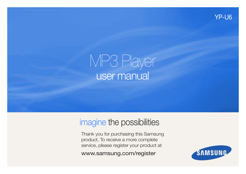 samsung yp u6 user manual 48 pages rh manualsdir com samsung mp3 player yp-u3 user manual samsung mp3 player yp-u3 user manual