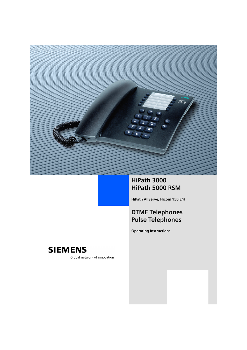 siemens hipath 5000 rsm user manual 62 pages rh manualsdir com manual pabx siemens hipath 3500 Siemens HiPath Pro Center