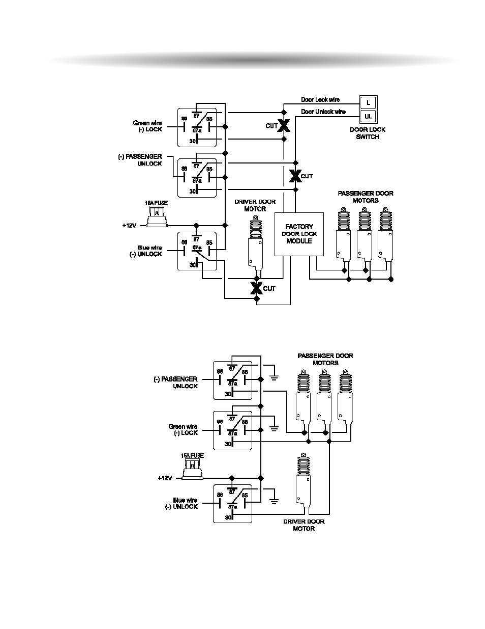Two stage door lock diagrams cont'd | ScyTek Electronics ASTRA 4000RS User  Manual | Page 30 / 32