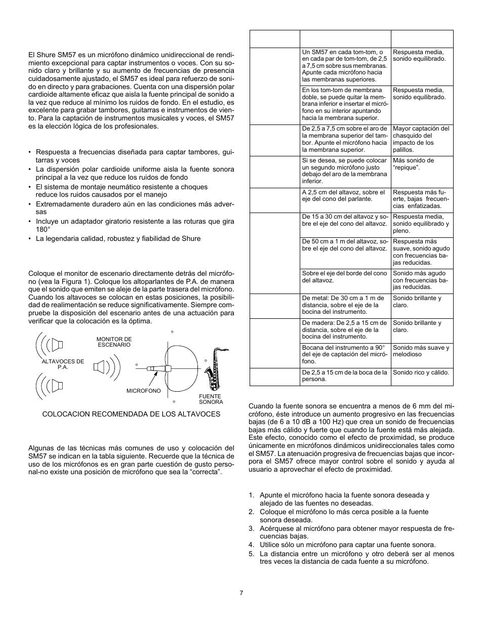 modelo sm57 shure sm57 user manual page 7 12 original mode rh manualsdir com Shure Beta 58A shure sm57 user guide
