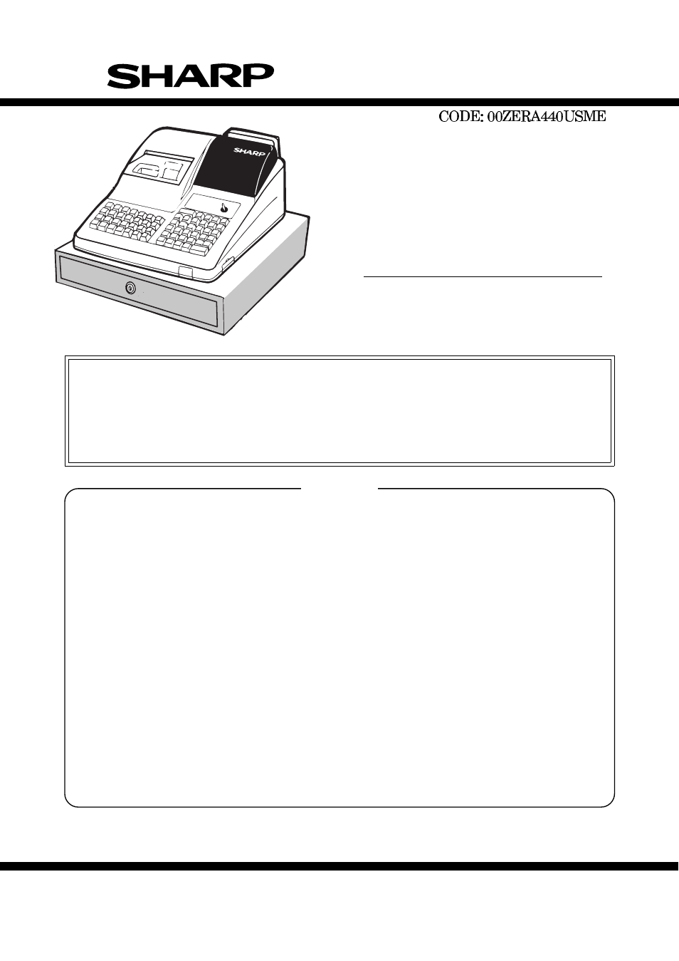 Sharp ER-A440 User Manual | 52 pages