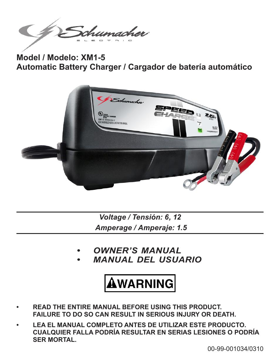 schumacher xm1 5 user manual 34 pages original mode rh manualsdir com Schumacher Battery Charger Instruction Manual Schumacher SpeedCharge Charger Manual