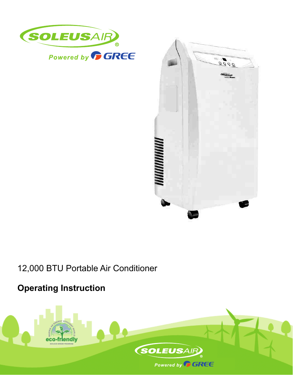 Soleus Air Portable Air Conditioner GH PAC 12E1 User Manual | 16 Pages |  Also For: Portable Air Conditioner GH PAC 12E1HP WITH HEAT