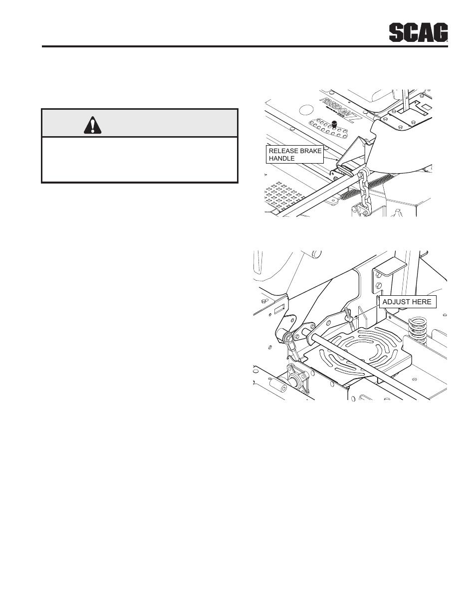Adjustments  Section 6  1 Parking Brake Adjustment