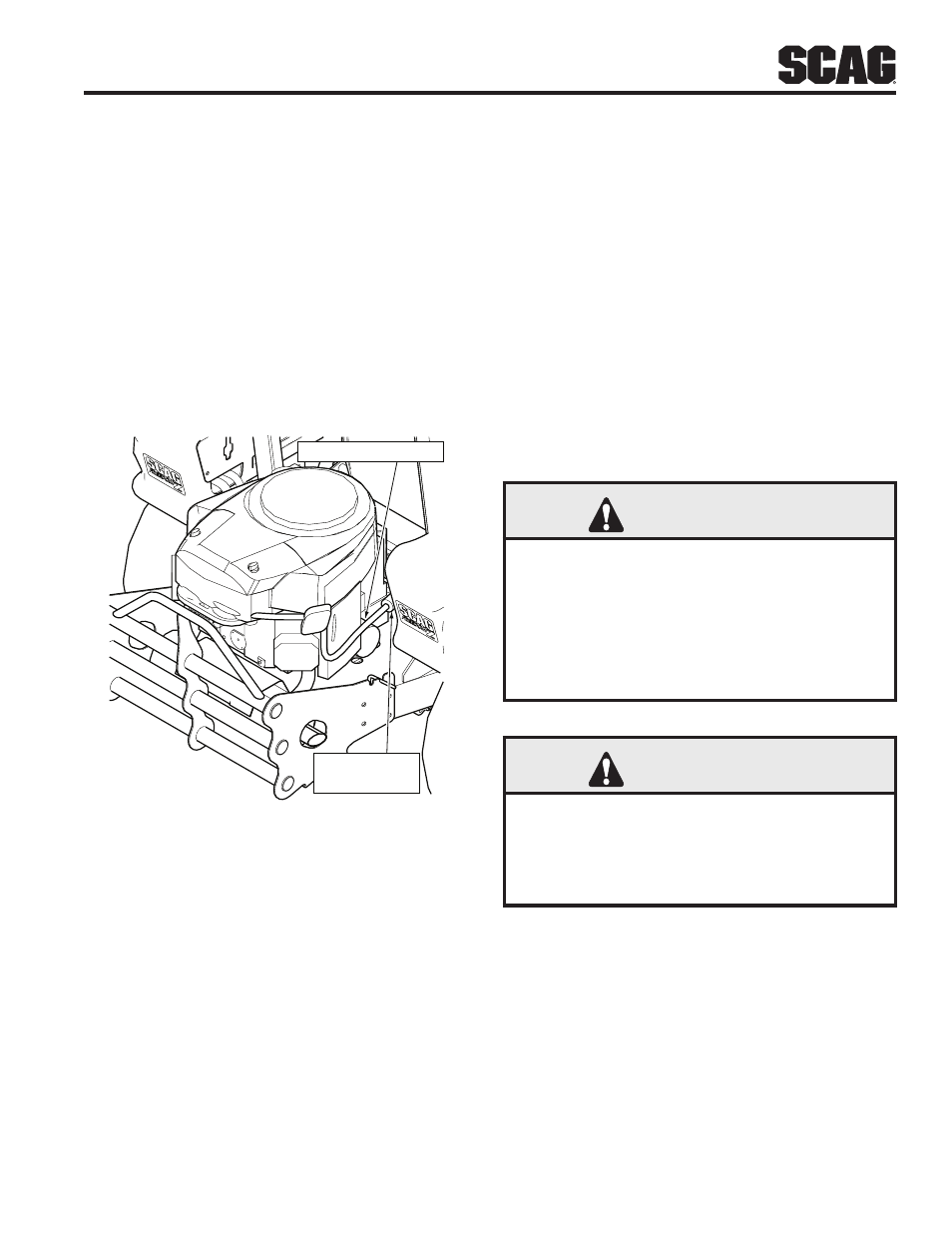 5 Engine Air Cleaner  6 Battery  Warning
