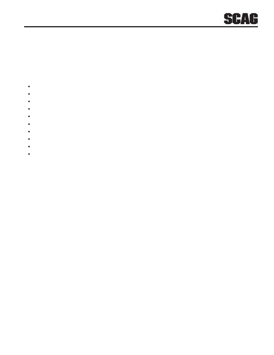 Illustrated Parts List  Section 8  1 Scag Approved