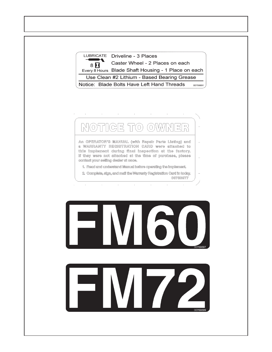 Safety | Servis-Rhino FM60/72 User Manual | Page 19 / 100