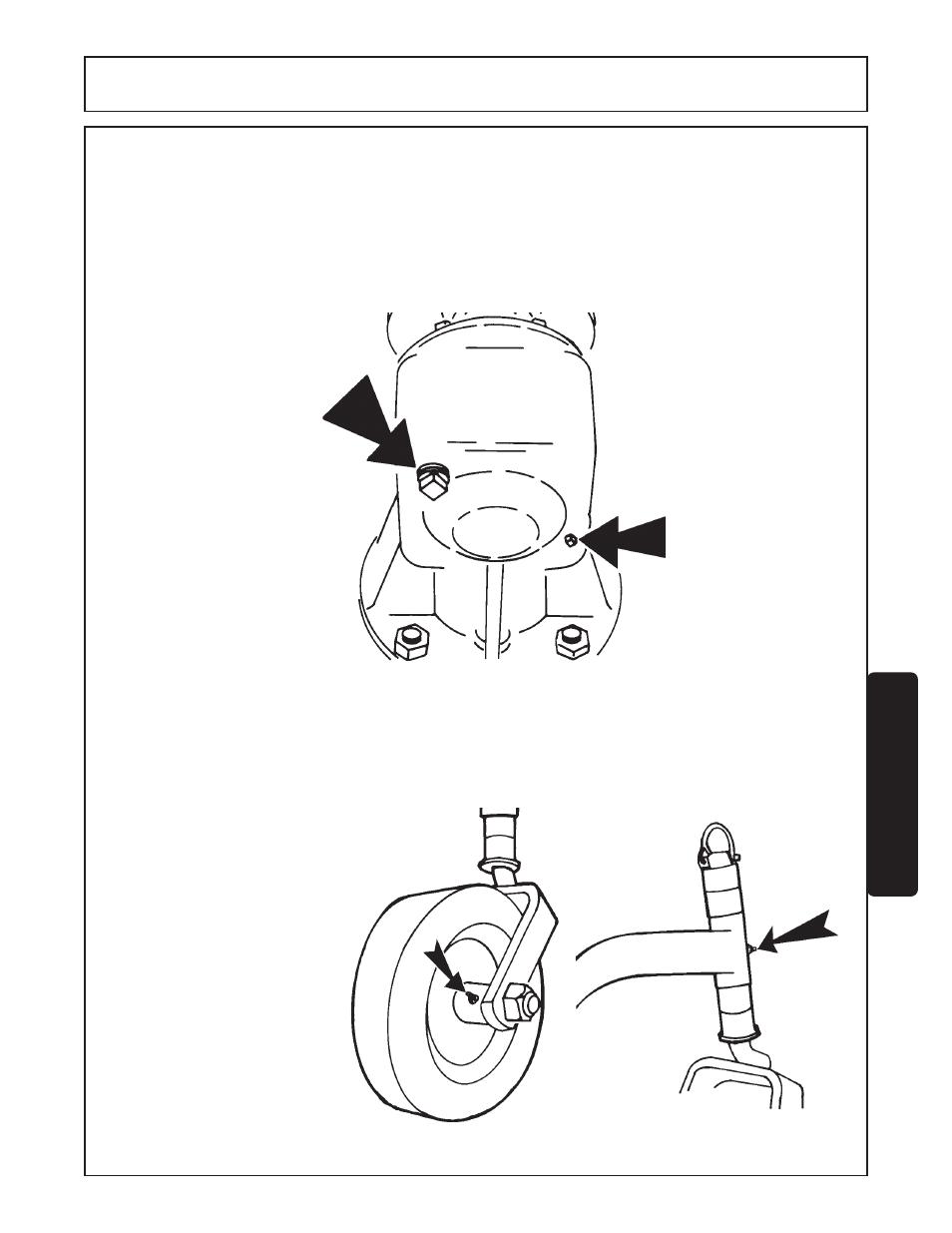 Gearbox -3 gauge wheel assemblies -3, Maintenance | Servis