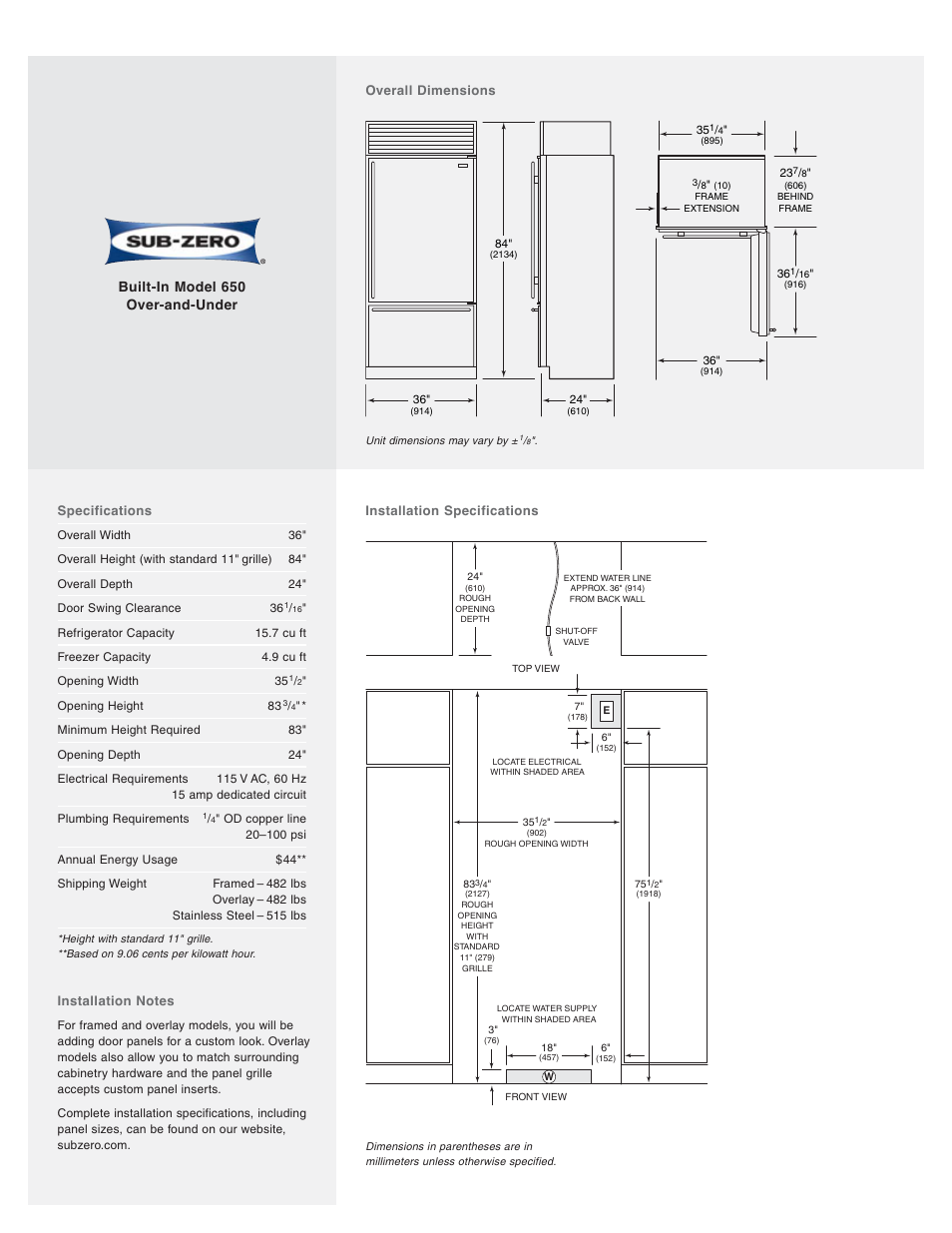 Sub Zero Model 650 Manual Manual Guide