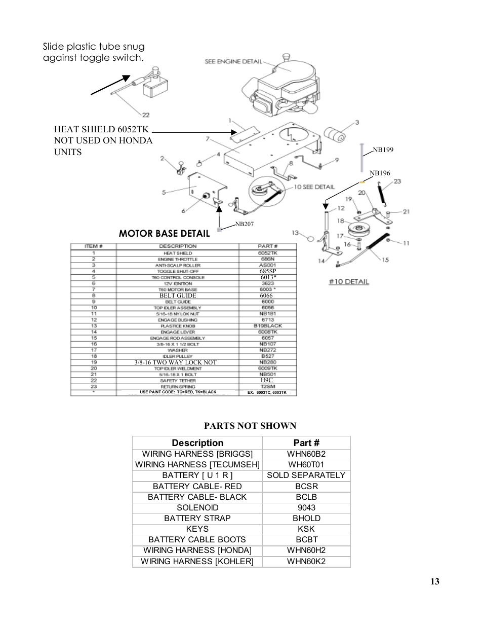 Swisher Wiring Harness Diagram Libraries Tecumseh Safety Key Diagrams T1360t User Manual Page 13 16 Also For T1360b1swisher