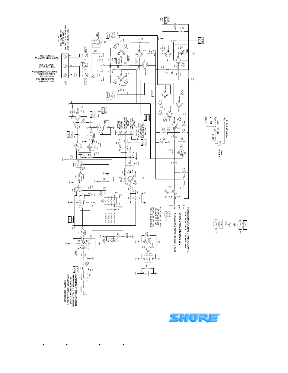 shure mx300 user manual