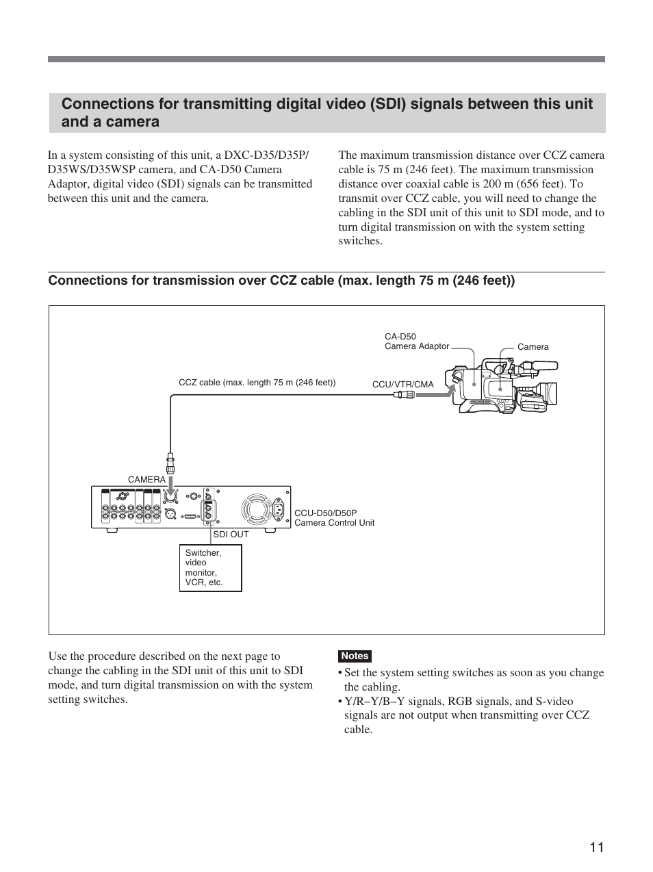 sony ccu d50 user manual page 11 31 original mode rh manualsdir com Sony Field Recorder sony ccu-d50 service manual