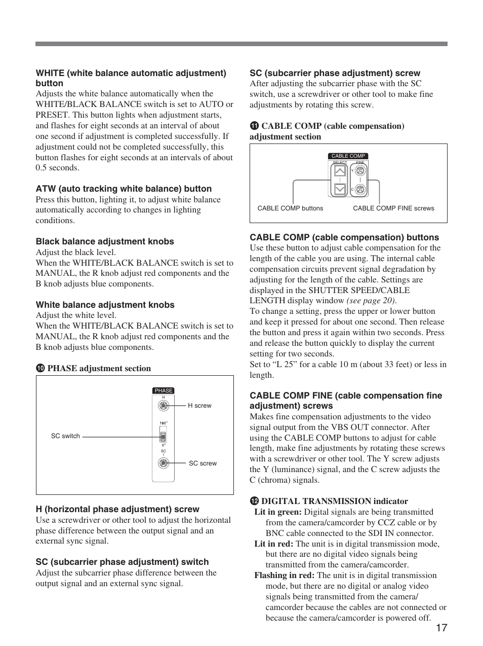 sony ccu d50 user manual page 17 31 original mode rh manualsdir com sony ccu-d50 service manual Sony Linear PCM Recorders