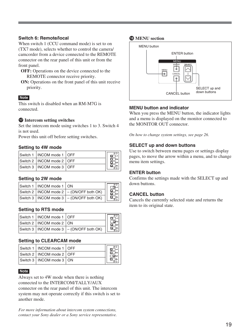 sony ccu d50 user manual page 19 31 original mode rh manualsdir com sony ca d50 service manual sony ca d50 service manual