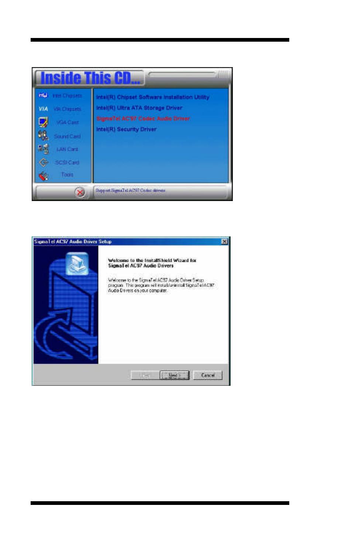 sigmatel ac97 audio driver