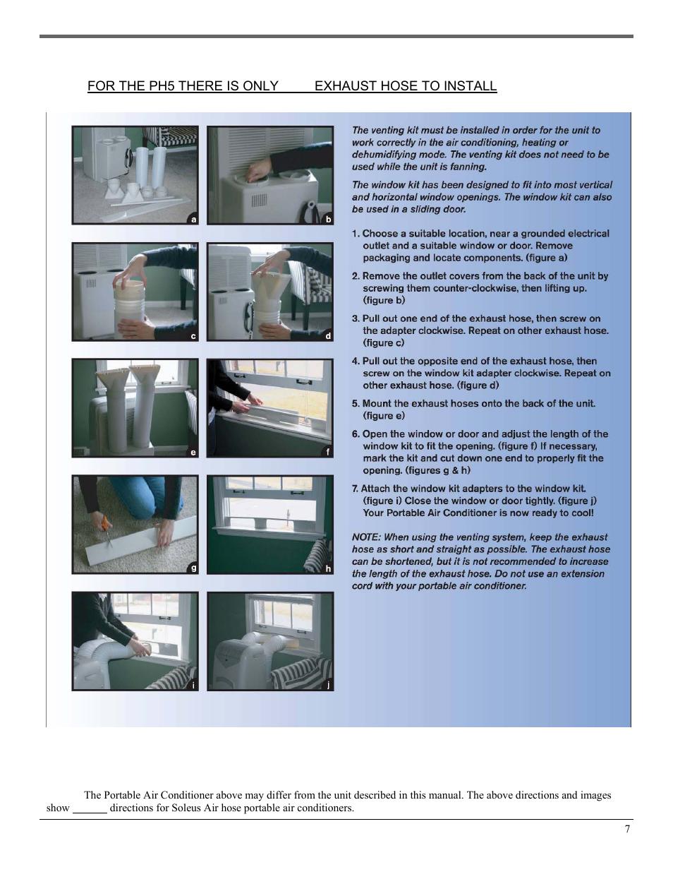 Venting Kit Installation Soleusair Ph5 13r 35s User