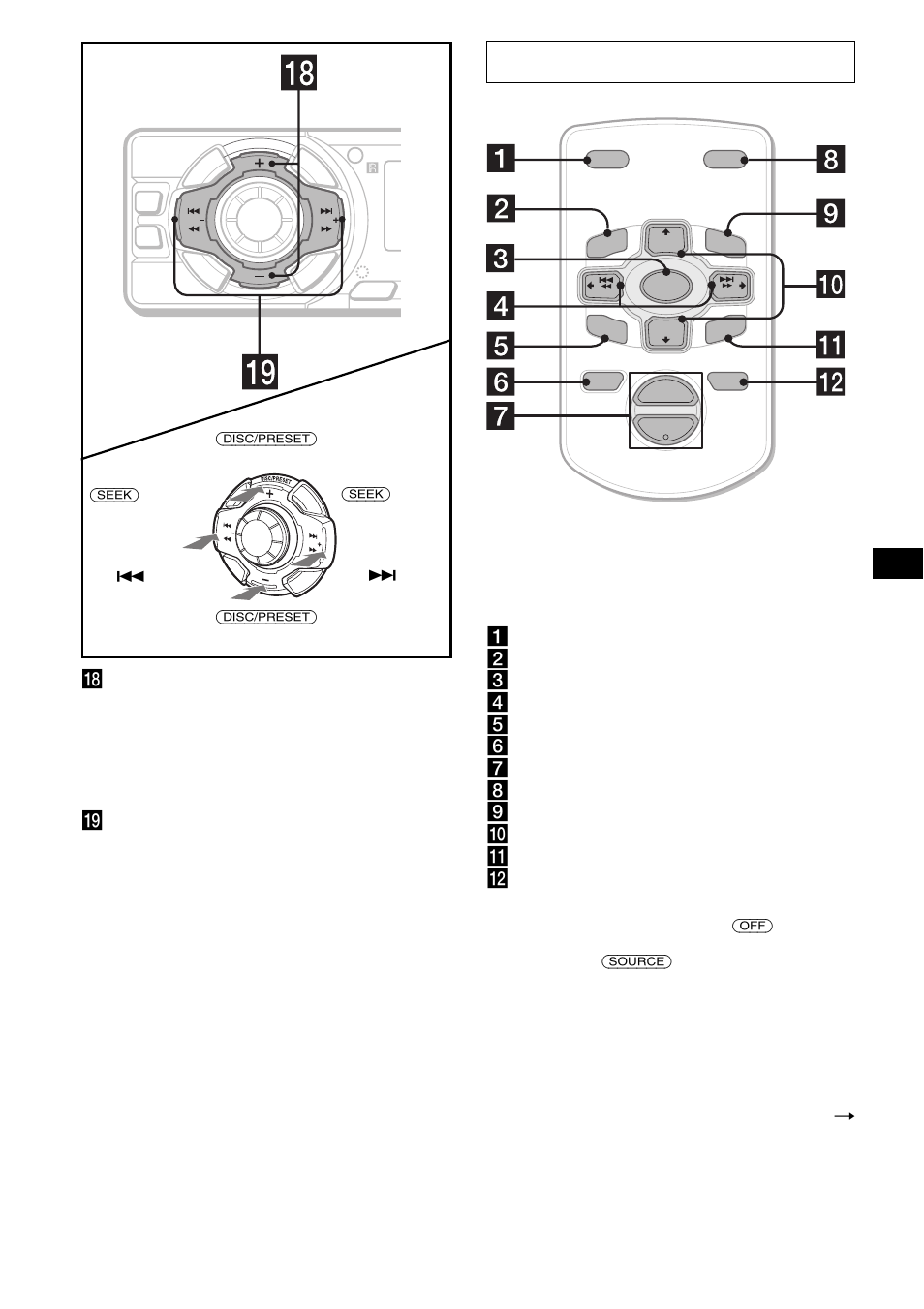 Control remoto de tarjeta rm-x114, Y omitir álbumes   Sony CDX-FW570 User  Manual   Page 35 / 64
