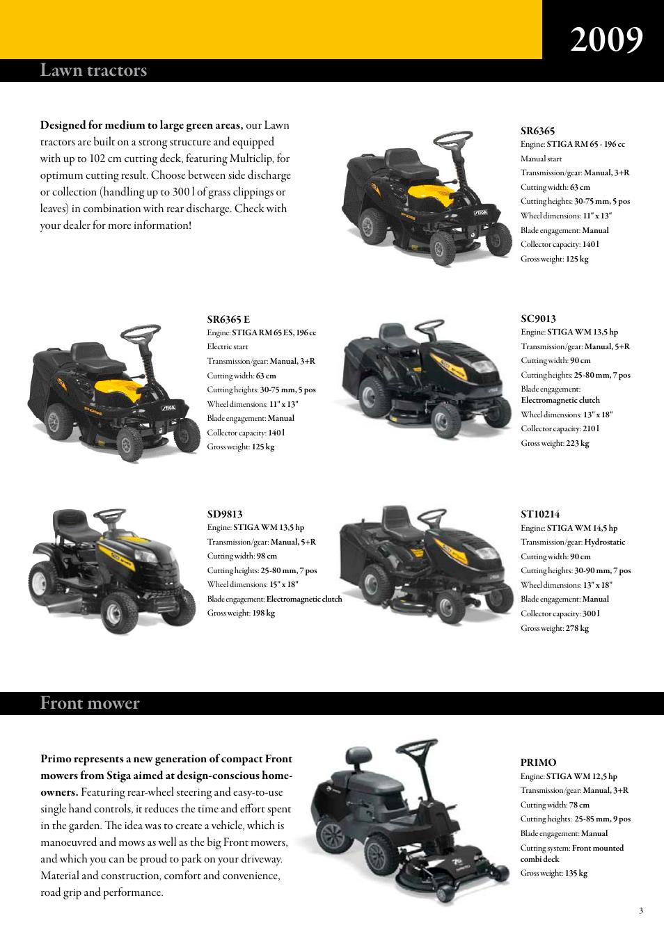 Lawn tractors, Front mower | Stiga Lawn tractors User Manual | Page 3 / 8