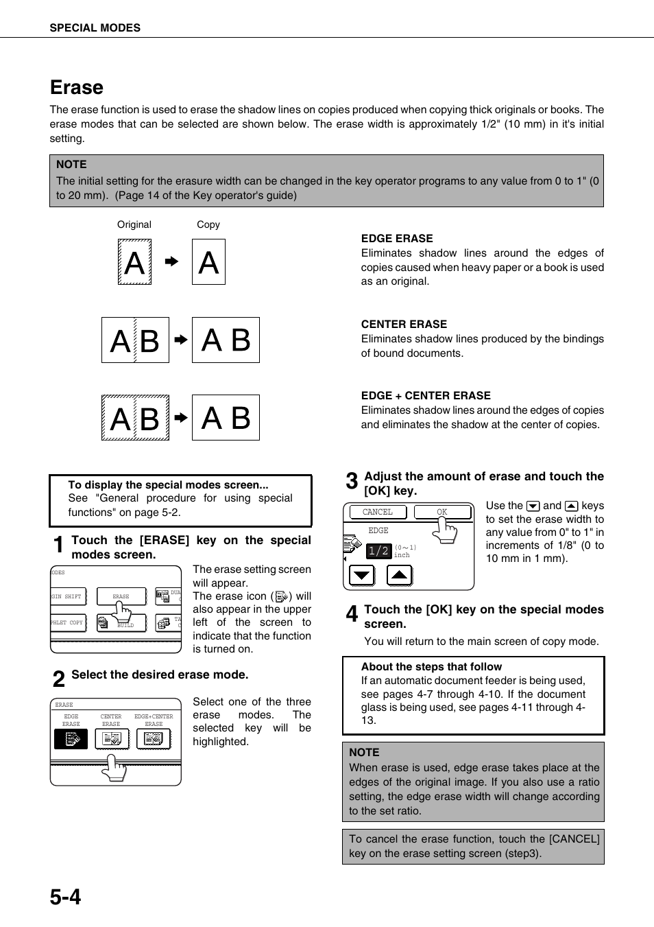 Erase | Sharp AR-M700N User Manual | Page 100 / 172