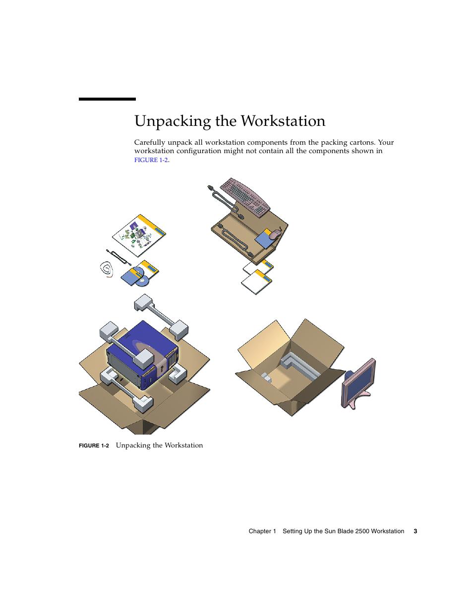 Unpacking the workstation, Figure | Sun Microsystems Sun Blade 2500