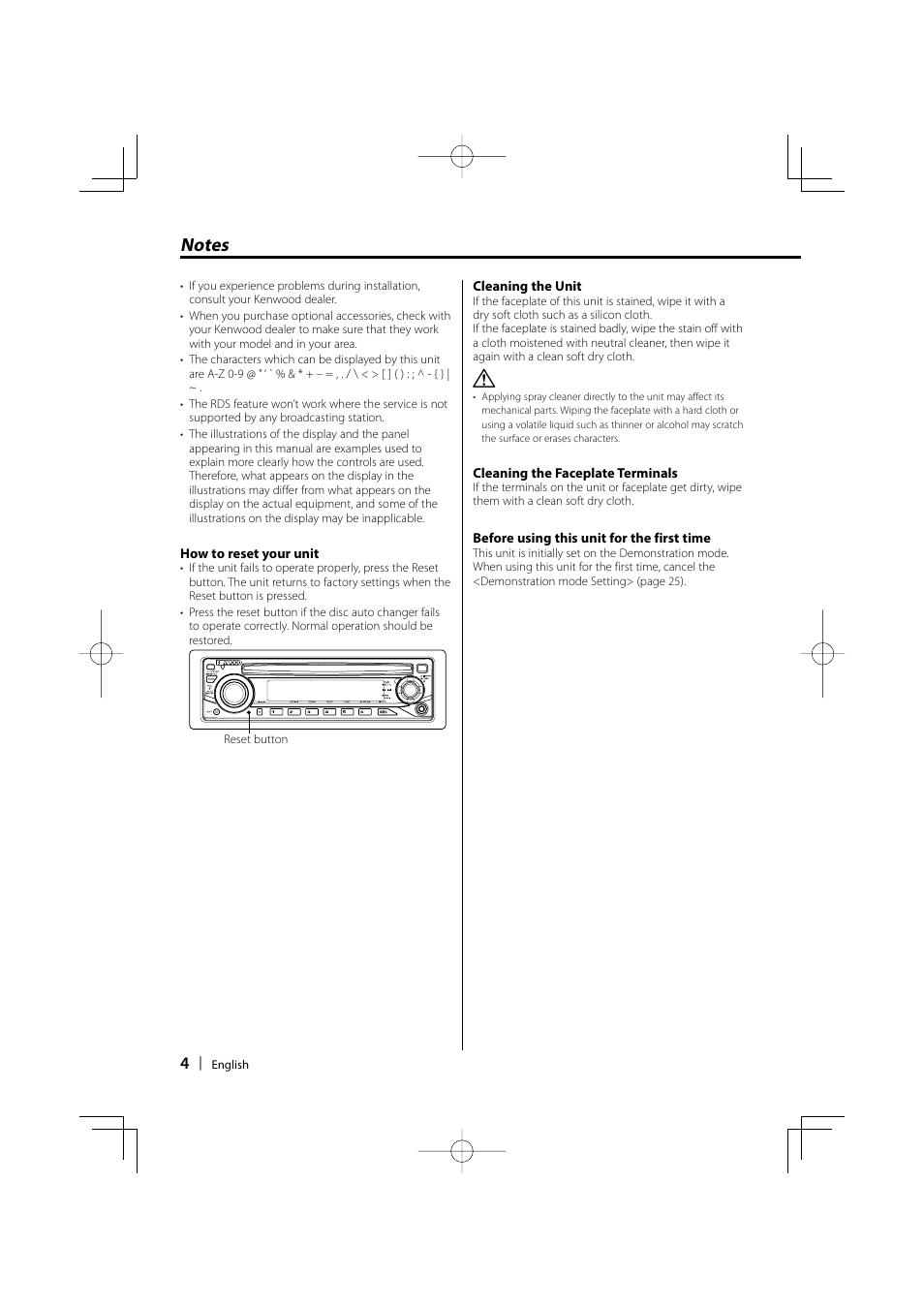 Kenwood KDC-W311 User Manual | Page 4 / 36