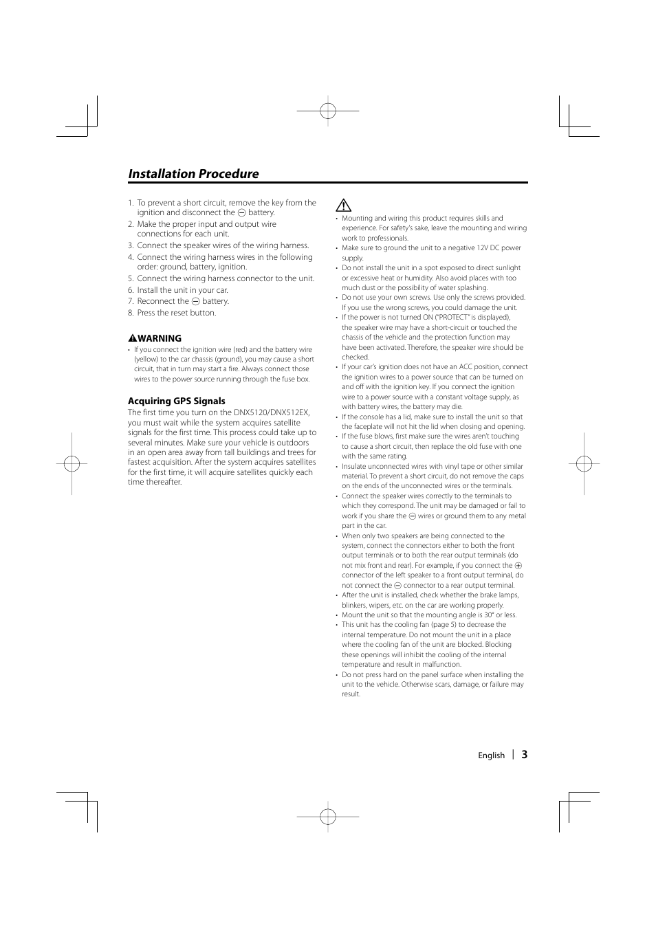 Installation Procedure Kenwood Dnx512ex User Manual Page 3 32 Wiring Harness Protection