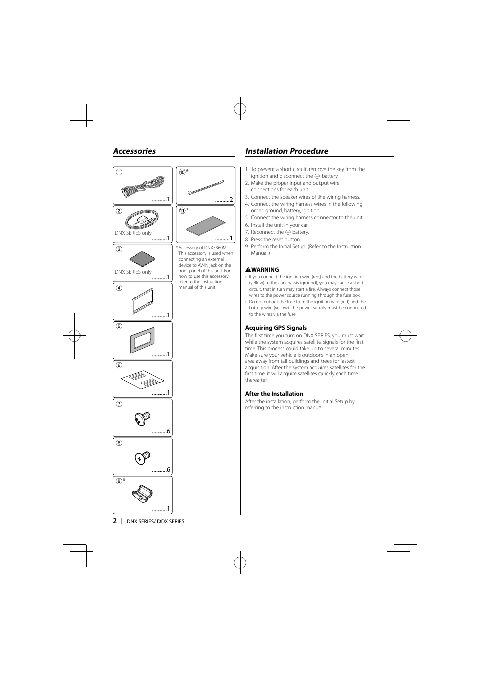 Installation Procedure Accessories Kenwood Ddx5036 User Manual Ddx Wiring Diagram Model Page 2 11