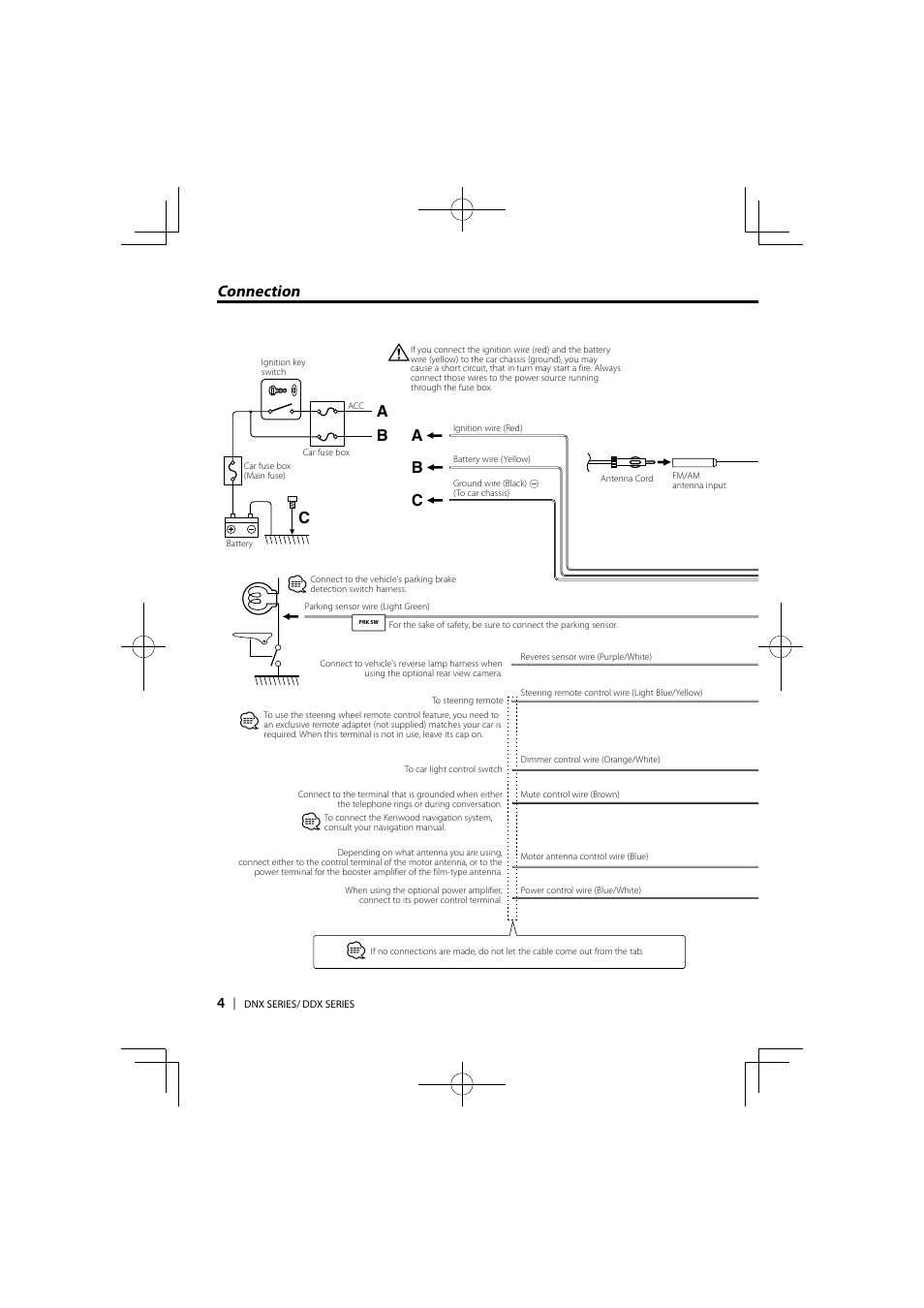 Bc A Connection Kenwood Ddx5036 User Manual Page 4 11 Ddx Wiring Diagram Model