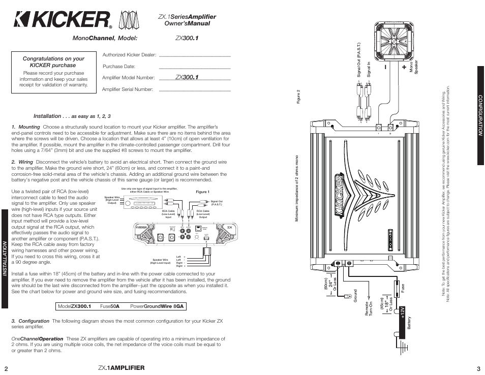 Kicker Zx300 1 User Manual