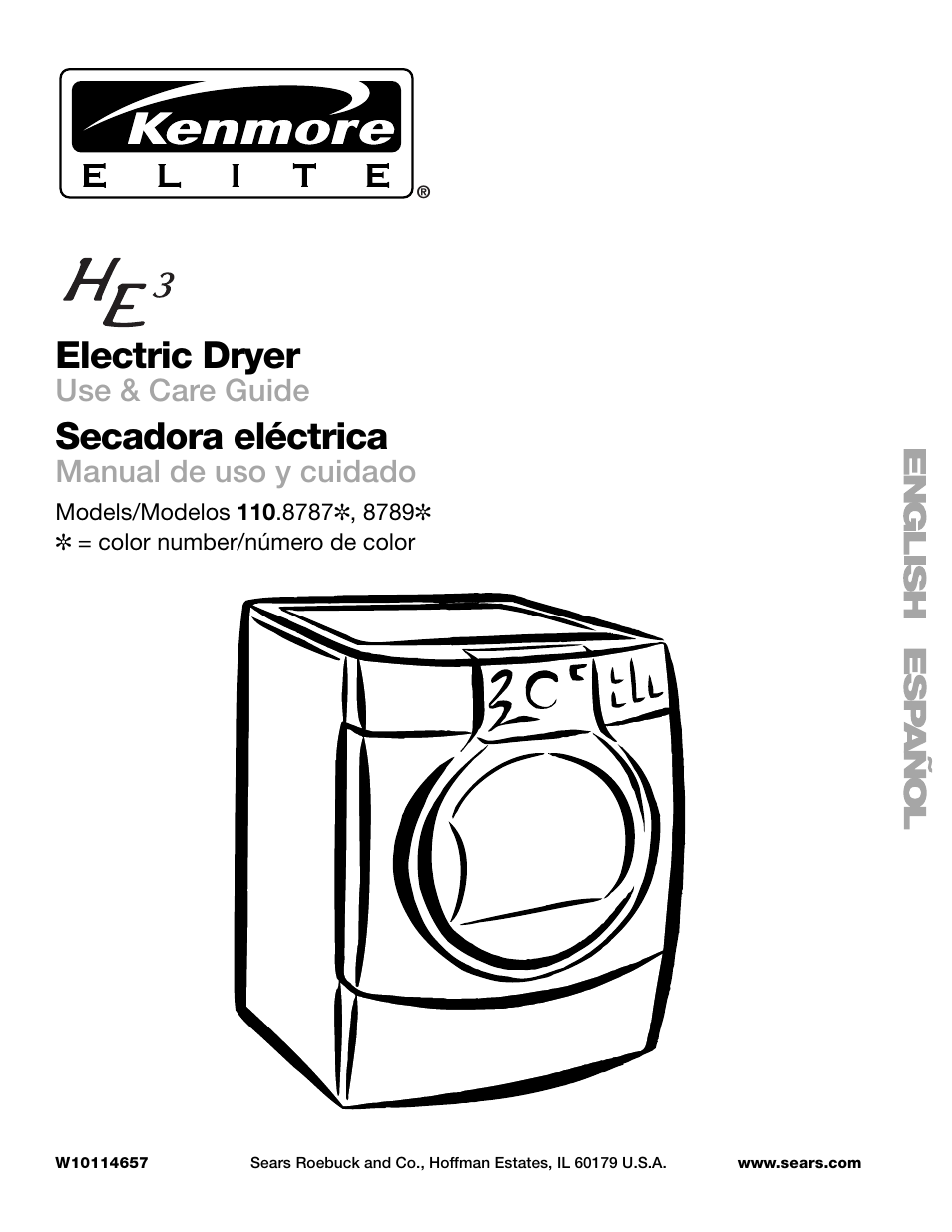 Kenmore Elite Electric Dryer Manual He4 Heating Element Wiring Diagram He3 110 8789 User 56 Pages Also For Rh Manualsdir Com