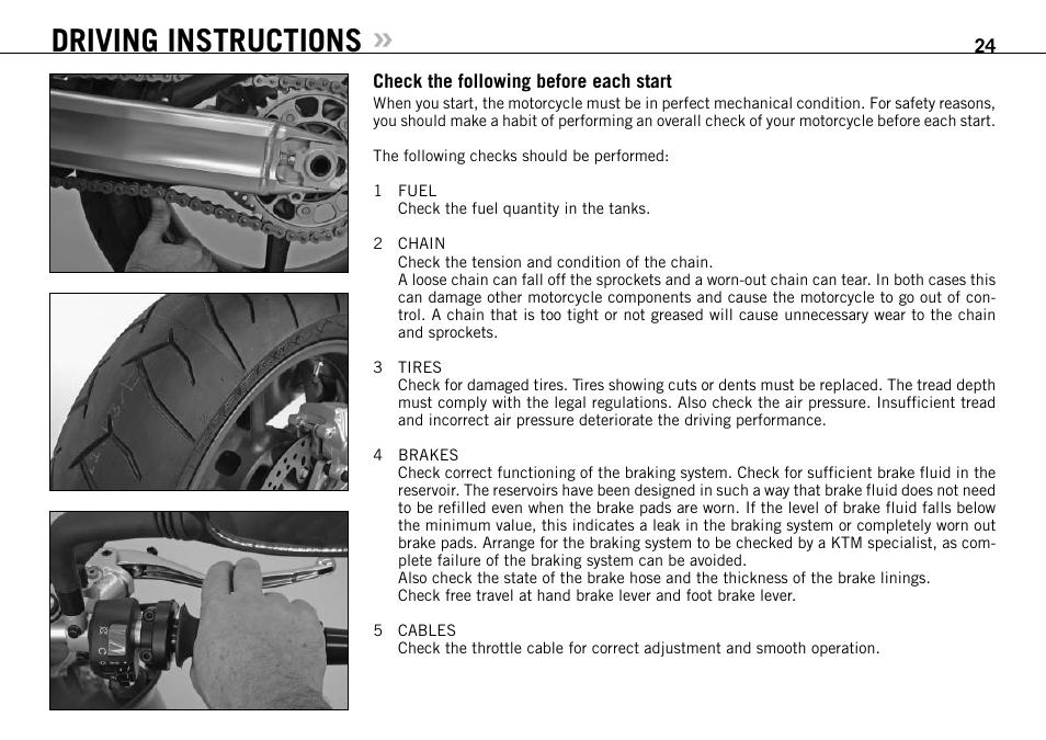 driving instructions ktm 990 super duke user manual page 25 92 rh manualsdir com ktm superduke user manual ktm superduke user manual