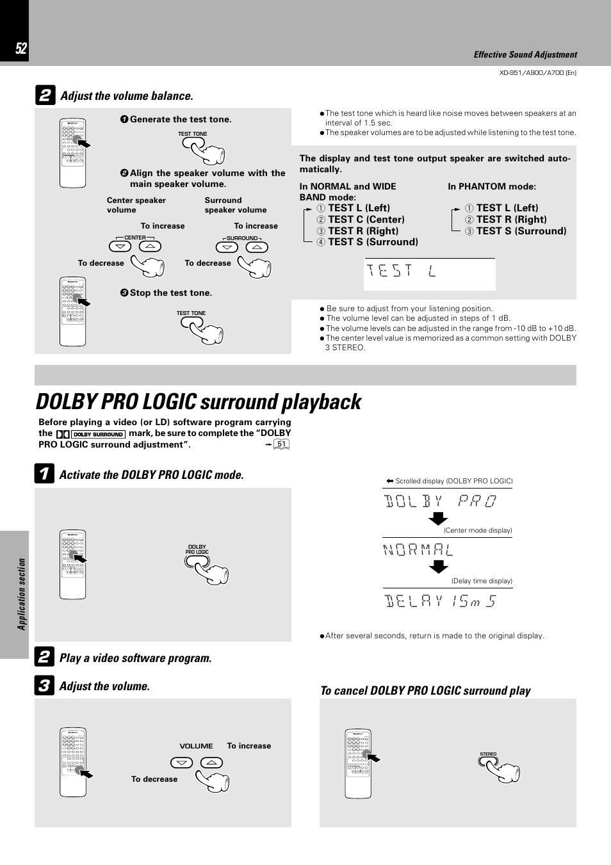 dolby pro logic surround playback kenwood xd a700 user manual rh manualsdir com Kenwood Chef Attachments Kenwood Chef Logo