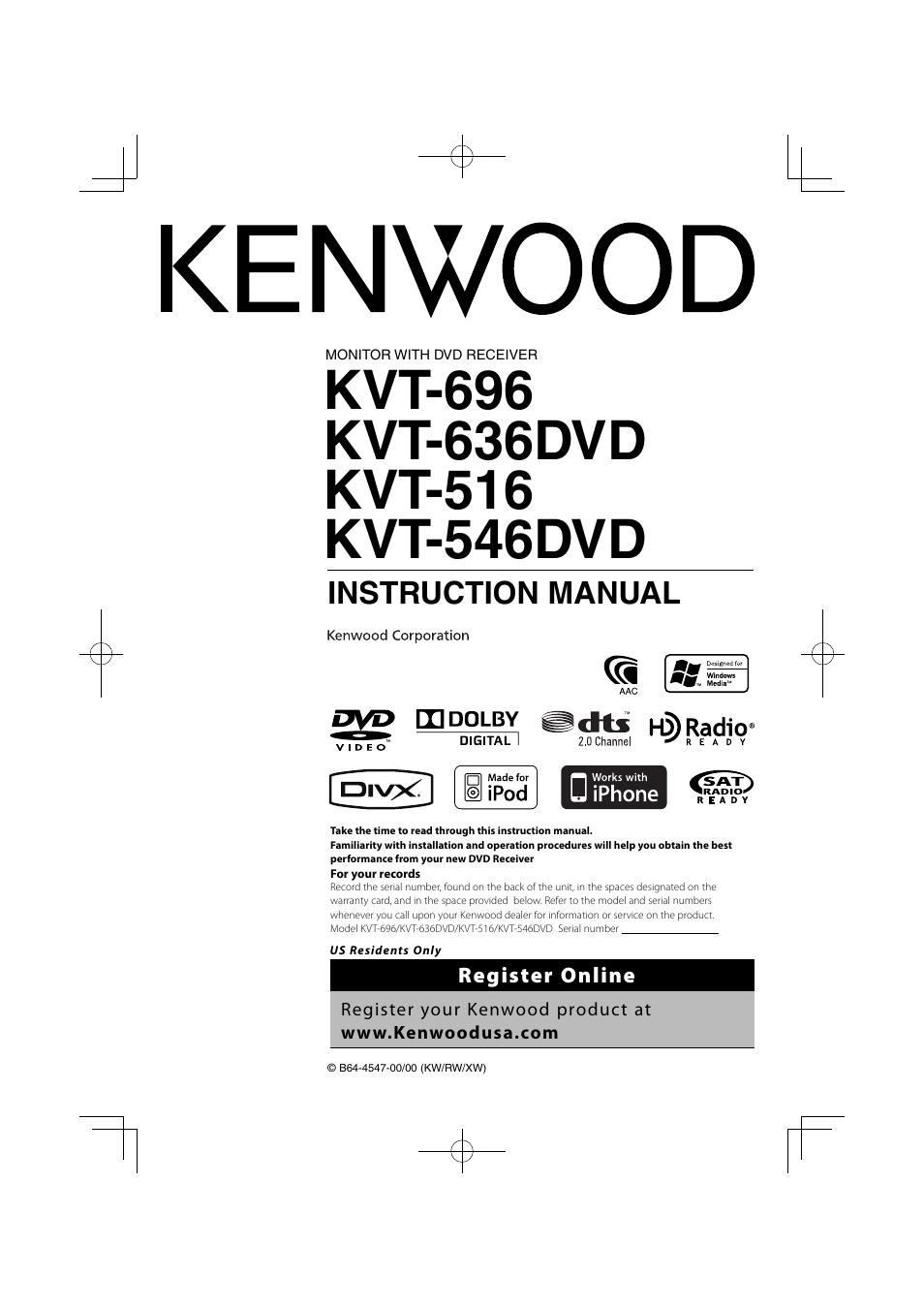 kenwood kvt