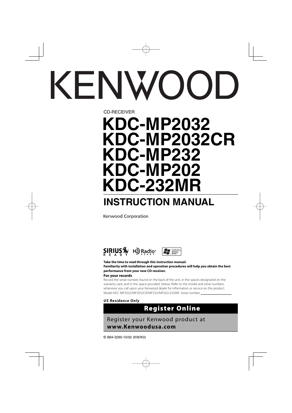 kenwood kdc mp2032 user manual 34 pages rh manualsdir com