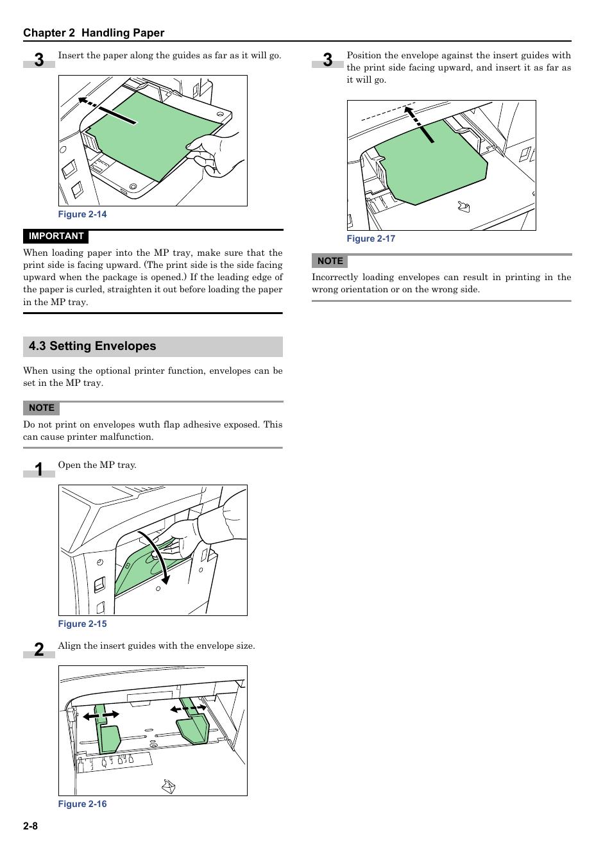 3 setting envelopes, 3 setting envelopes -8 | Kyocera ECOSYS